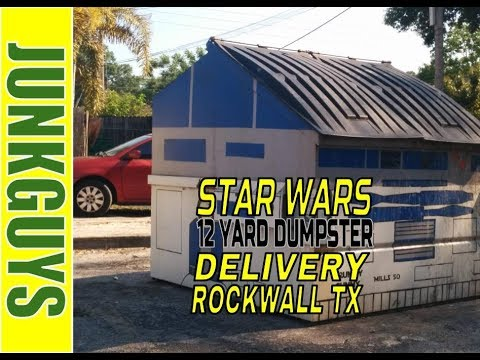 Star Wars review while the Junkguys deliver a 12 yard dumpster in Rockwall TX