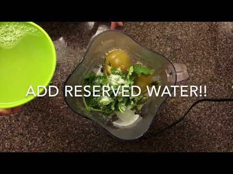 How to make Salsa Verde | Mexican / Spanish Food - Spicy ( Green Salsa ) - Easy Tutorial