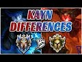 Differences: Challenger vs Gold Kayns (Master Both Forms - Shadow Assassin/Rhaast)