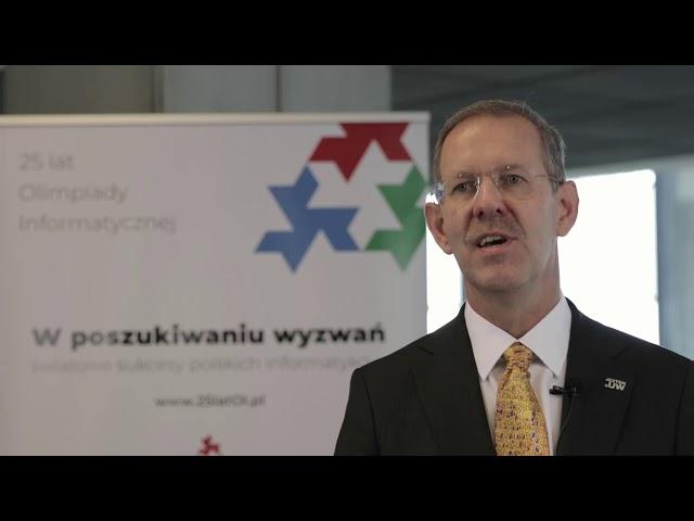 25lat Olimpiady Informatycznej - prof. UW dr hab. Marcin Pałys, Rektor Uniwersytetu Warszawskiego
