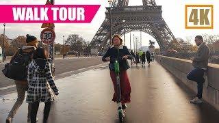 Paris Walking Tour From Trocadero To The Eiffel Tower 4K