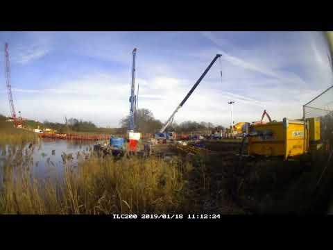 Timelapse of progress on Springhead Bridge