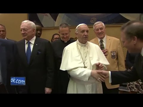 Pope meets with former Packer Jim Taylor