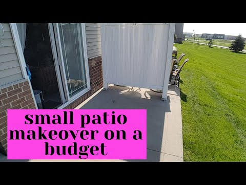 Small Patio Makeover on a Budget Backyard Decor