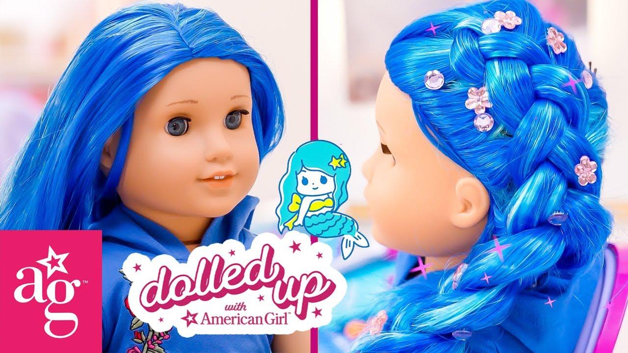 Dolled Up @American Girl | The Fabulous Glowing Mermaid Braid 🧜♀️ !