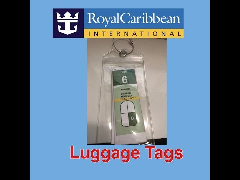 Folding Royal Caribbean Luggage Tags For A Cruise.