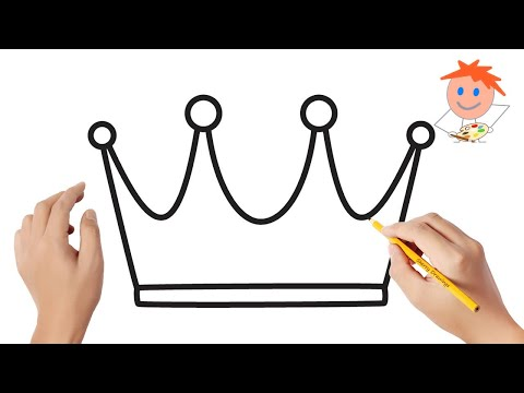 How To Draw A King Crown Easy Step By Step | Drawing For Kids 💖
