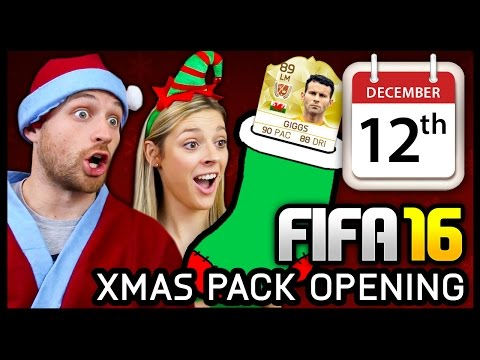 XMAS ADVENT CALENDAR PACK OPENING #12 - FIFA 16 ULTIMATE TEAM