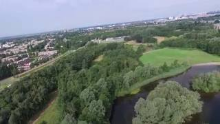 Drone flying at the Gaasperplas in Amsterdam