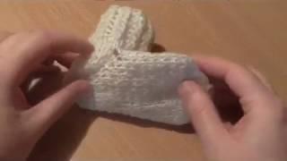 учимся вязать носки  на 2 спицах