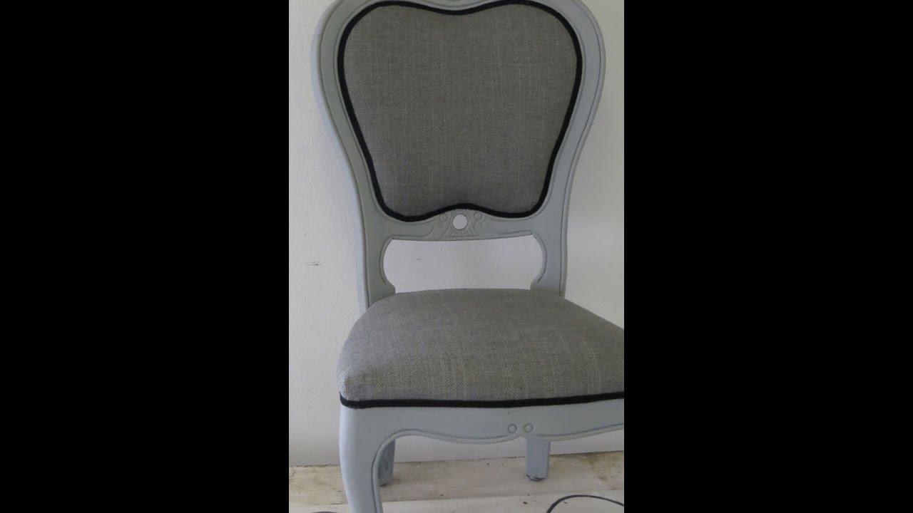 Een moderne barok stoel stofferen youtube
