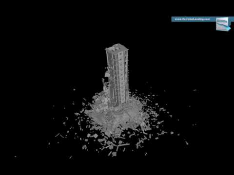 INACHUS - High-rise Building, Strong Intensity, Case 3