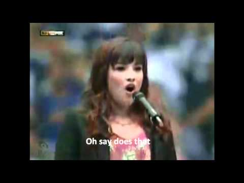 StarSpangled Banner  Demi Lovato with lyrics as subtitles