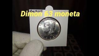 Монета США 50 центов 1965 года / Kennedy Half Dollar