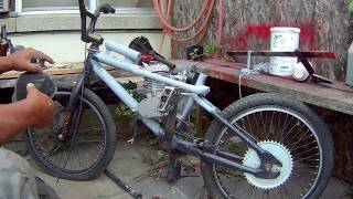 80cc Motorized BMX Bike pt.4, Frame Work