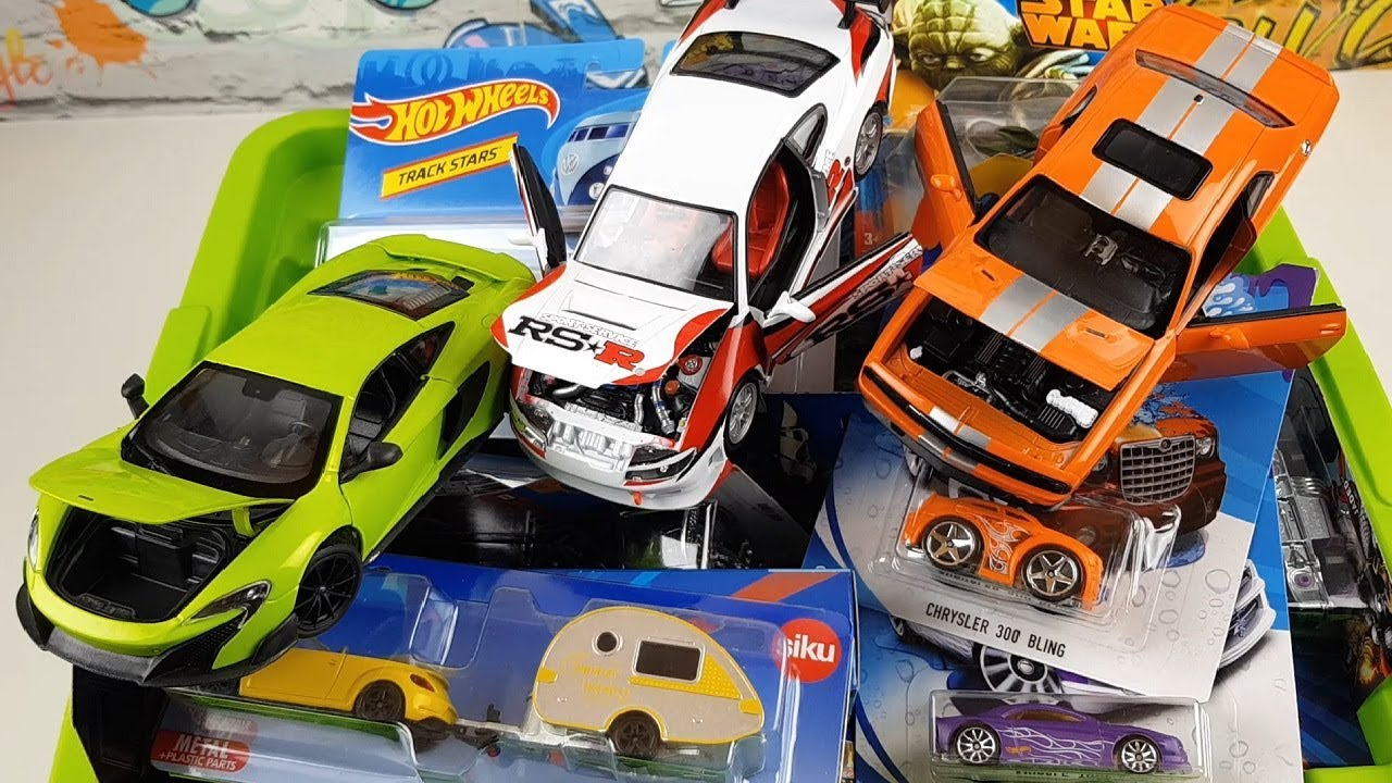Unboxing New Cars Toys Box Full Of Cars Siku Welly Hot Wheels