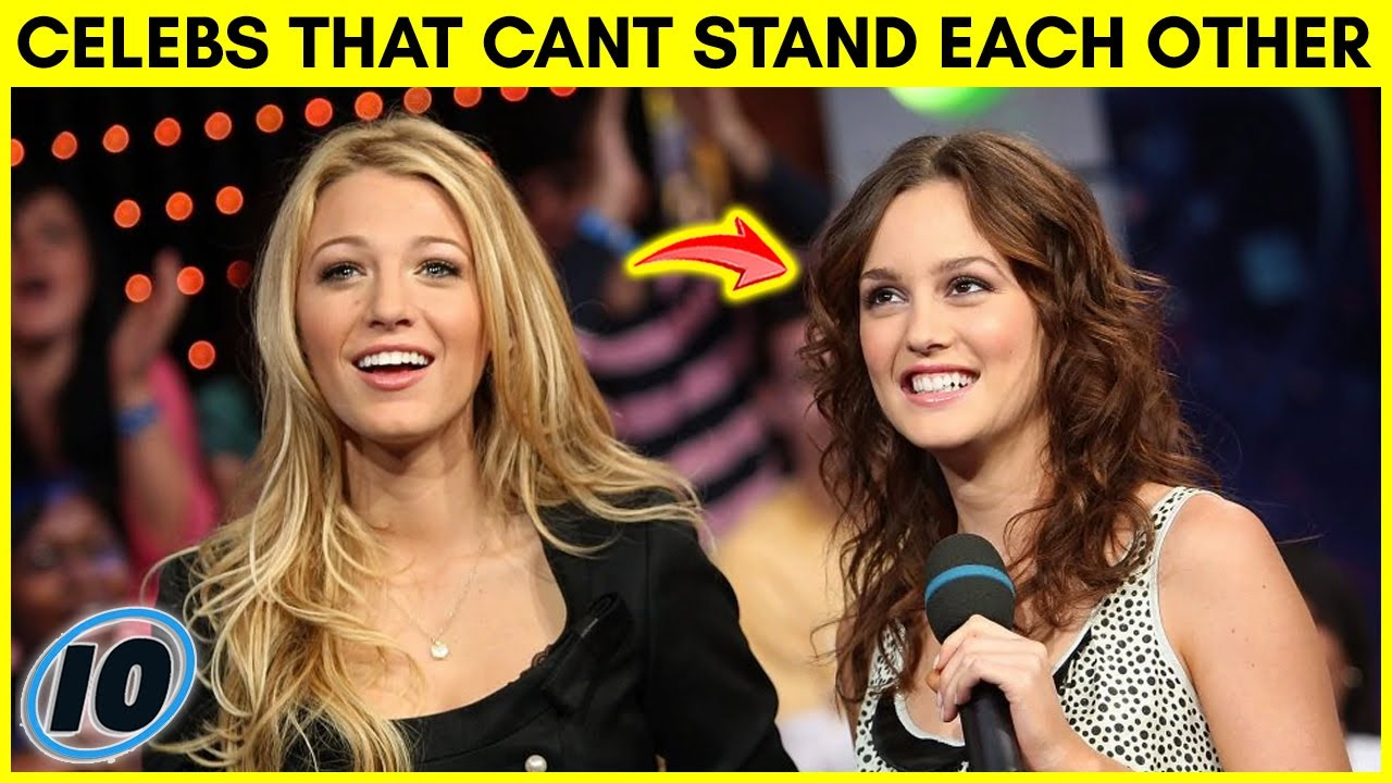 Top 10 Celebrities That Can't Stand Each Other