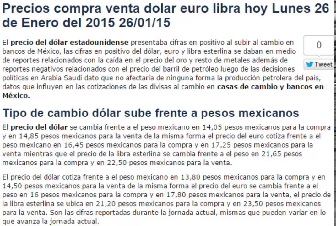 Precio del dolar euro libra cambio pesos compra venta hoy