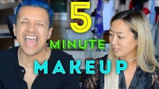 5 Minute Makeup Challenge with Arika Sato | Gabriel Zamora