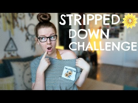 STRIPPED DOWN CHALLENGE | THE REAL ME | MEGHAN HUGHES