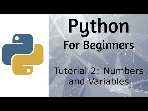 Python - Tutorial 2 - Numbers and Variables thumbnail