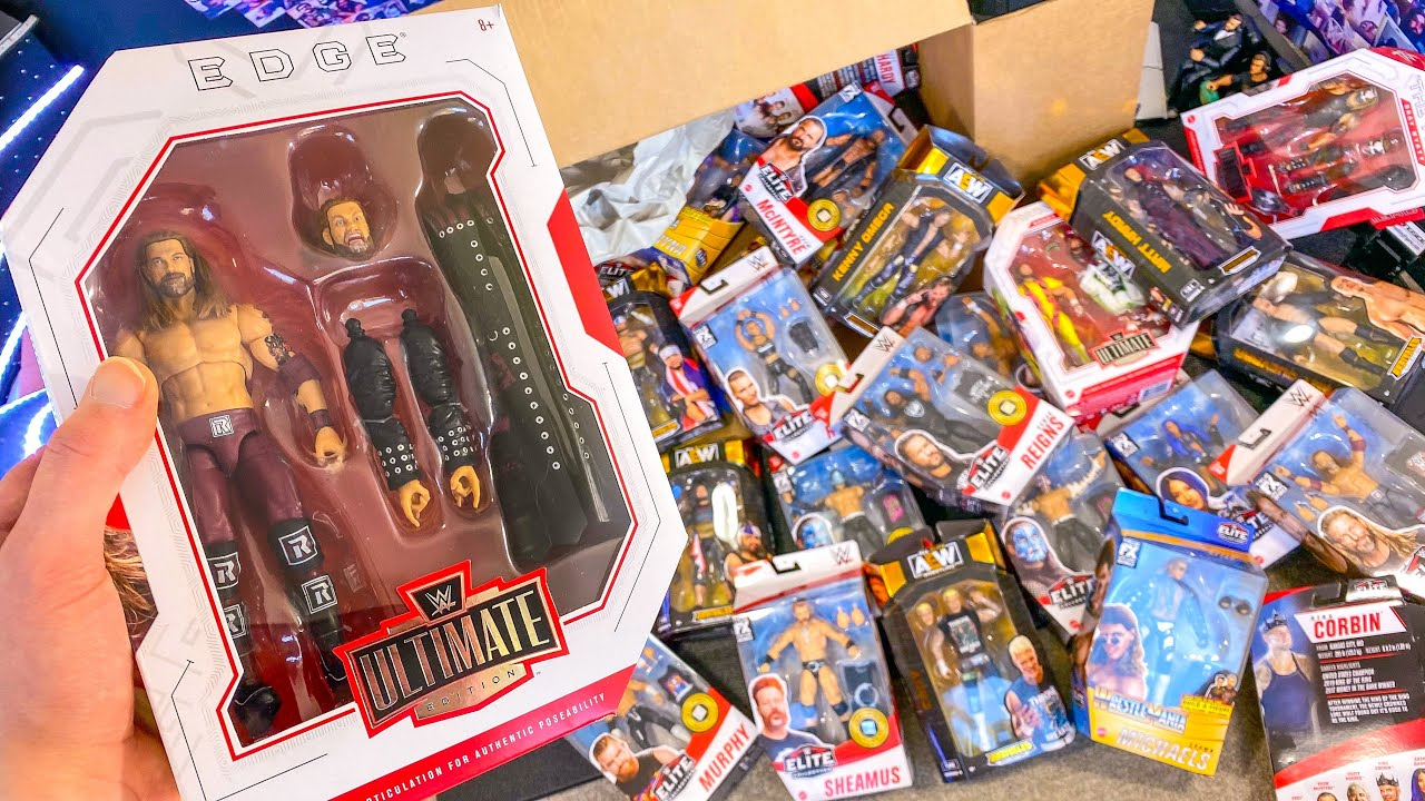 HUGE WWE & AEW ACTION FIGURE UNBOXING!