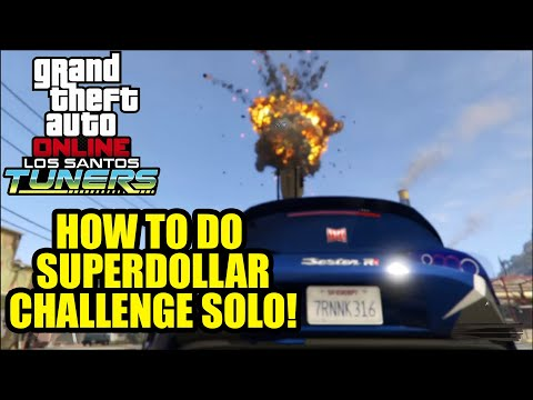 HOW TO do the GTA V Online Tuners Superdollar Auto Workshop Challenge Mission SOLO!