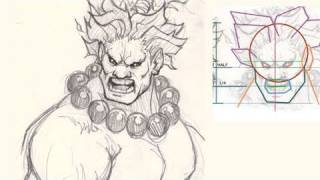 How to draw Street Fighters Akuma
