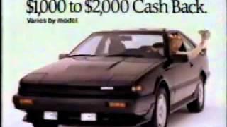 1988 Nissan Pulsar 200sx commercial