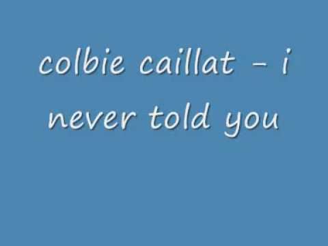 colbie caillat - i never told you ( male version )