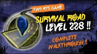 survival road walk through level 228 twd rts the walking dead road to survival