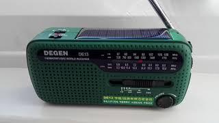 dEGEN DE13 Solar Short Wave Radio DEMO