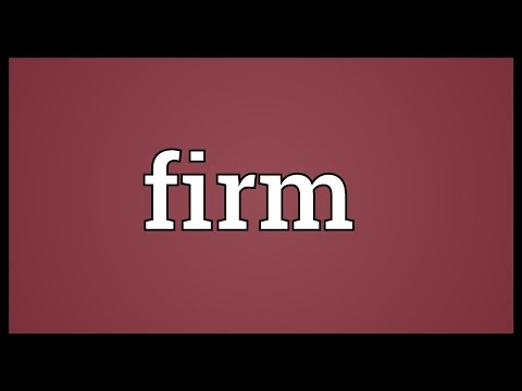 Firm Meaning