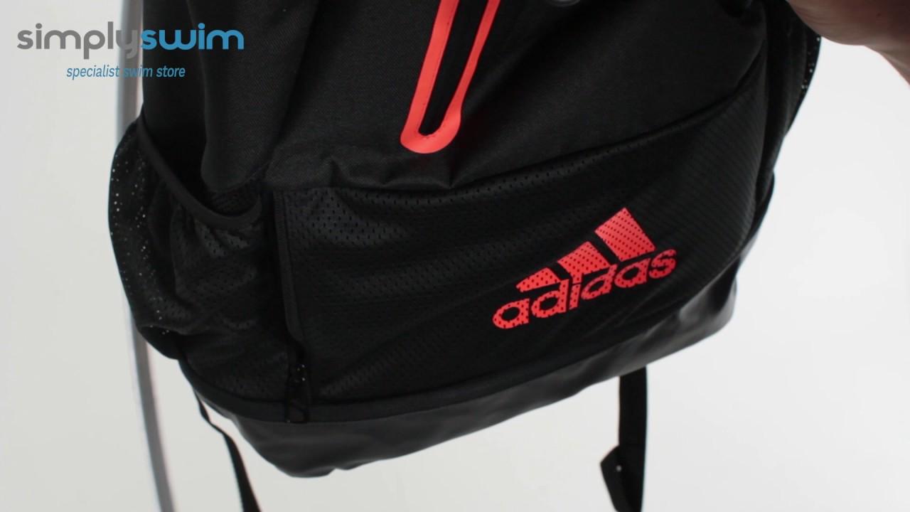 8ad48d781aa2a Adidas Swim Backpack - www.simplyswim.com - YouTube