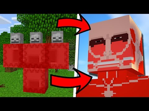 How To Spawn the Colossal Titan in Minecraft  (Attack On Titan Addon)