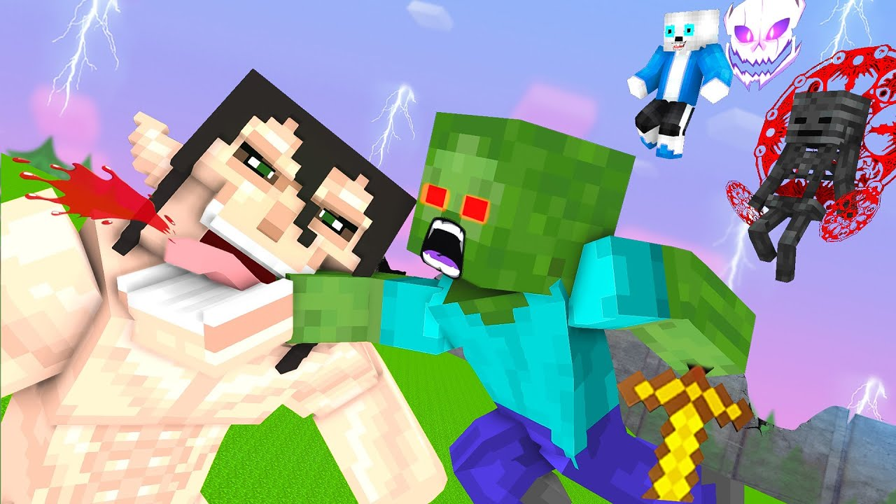 Monster School Attack On Titan With New World  - Minecraft Animation