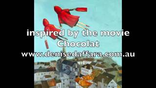 a painting inspired by the movie Chocolat