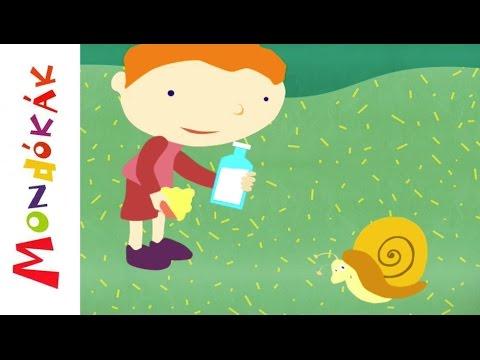 Csiga-biga, gyere ki (mondóka, rajzfilm gyerekeknek) letöltés