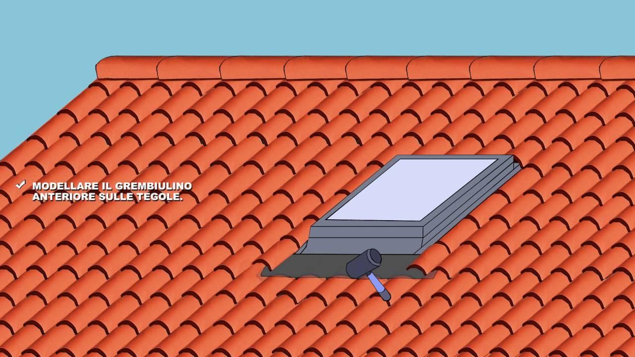 Come installare una finestra per tetto in cemento tegole for Finestre x tetti