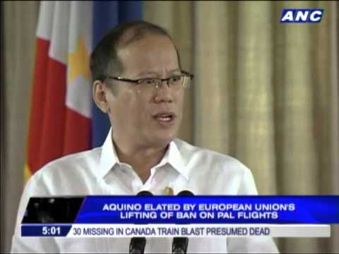 PNoy congratulates CAAP as EU lifts ban on PAL flights