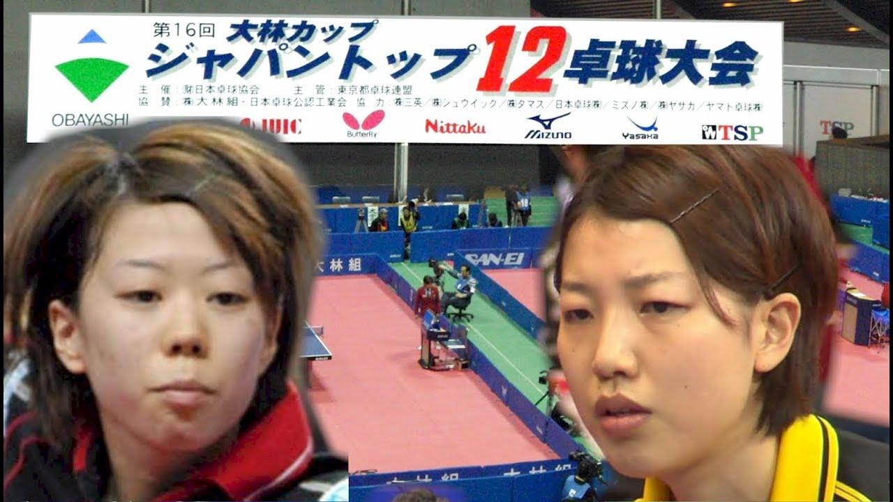 第16回JAPAN TOP12卓球 決勝 藤...
