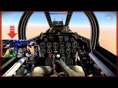 WarThunder PC - Flying FIRST Jet!! W/Thrustmaster HOTAS Flight RIG! | SLAPTrain