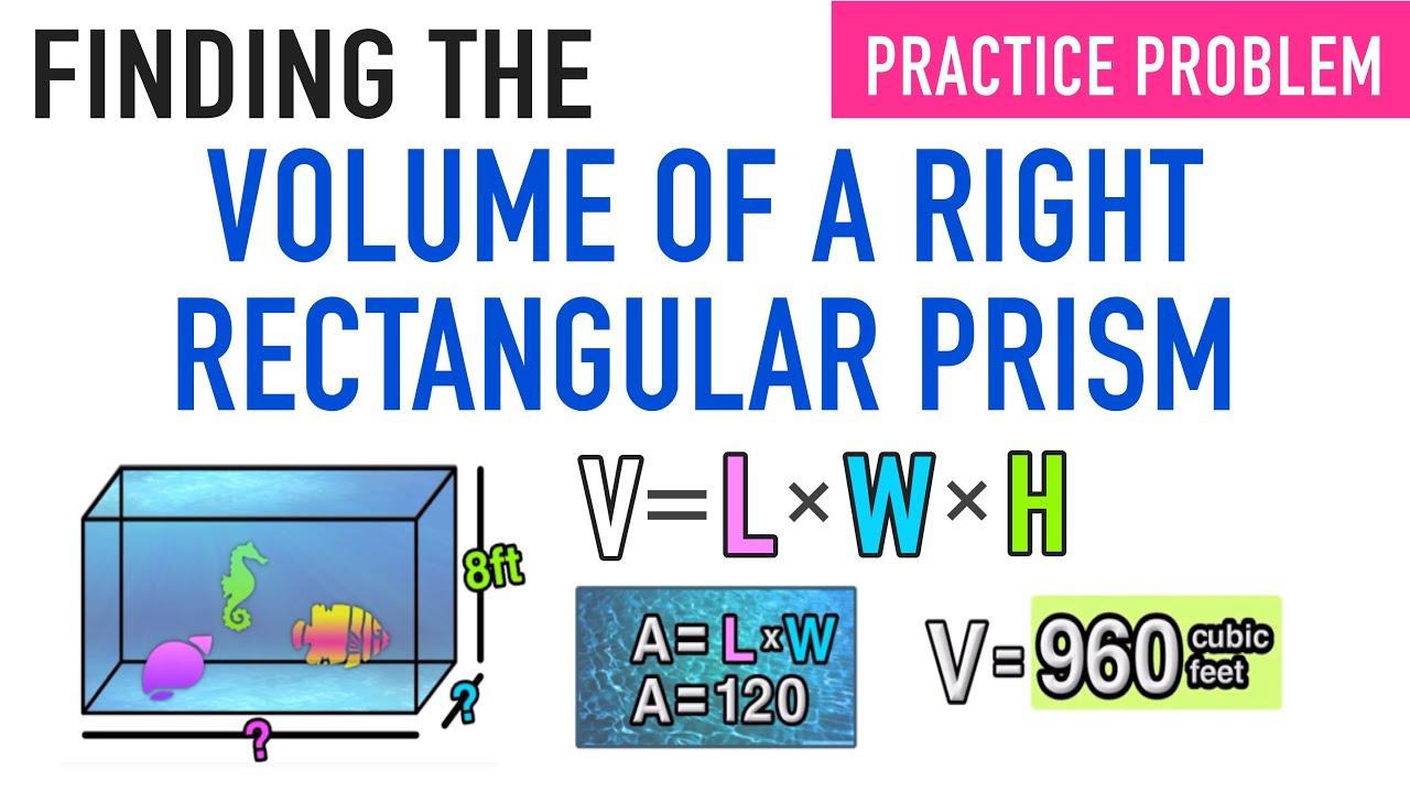 Volume Of A Right Rectangular Prism 5th Grade Common Core Math