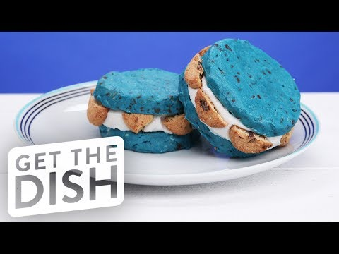 Cookie Monster Ice Cream Sandwich | Get the Dish
