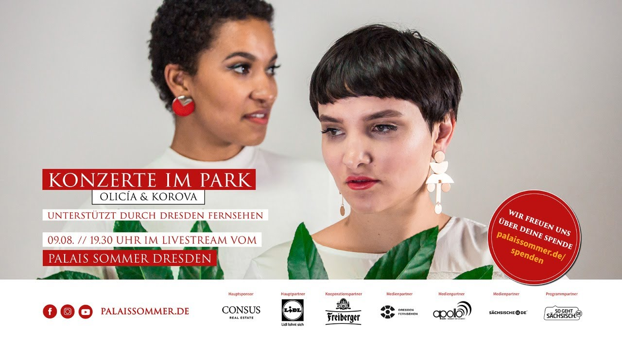"LIVESTREAM: ""Konzerte im Park - Olicía (D), Korova (D)"" - 09.08. // 19:30 Uhr"