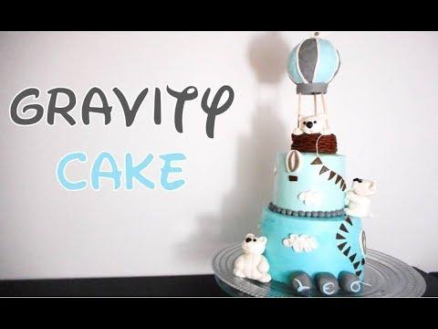 ❤ Cake Design ❤  Gravity Cake Nounours et Montgolfières
