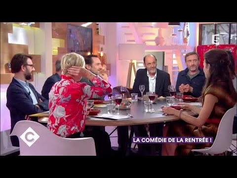 JeanPierre Bacri, JeanPaul Rouve et Gilles Lellouche au dîner  C à Vous  29092017