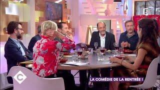 Jean-Pierre Bacri, Jean-Paul Rouve et Gilles Lellouche au dîner - C à Vous - 29/09/2017