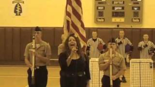 Mina Leon Sings the National Anthem