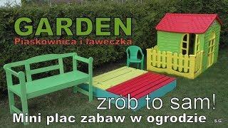 Sandbox in the garden - Montujemy piaskownicę w ogrodzie